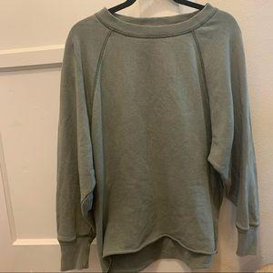 Aerie green sweatshirt